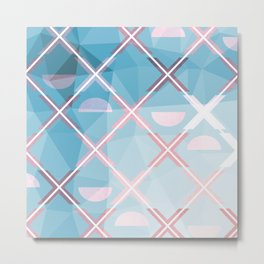 Abstract Triangulated XOX Design Metal Print