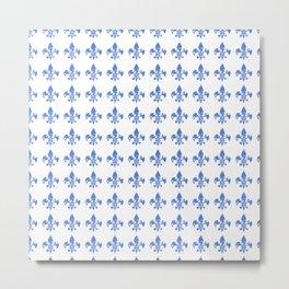 French Blue fleur di li Metal Print