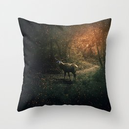 majestic forest guardian Throw Pillow