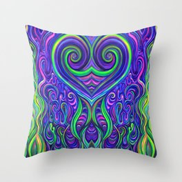 Psychedelic Seaweeds Throw Pillow