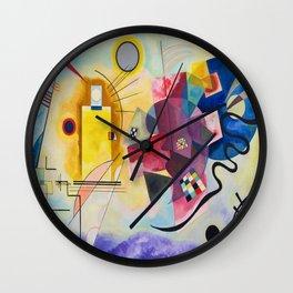 Yellow, Red, Blue--- Wassily Kandinsky Wall Clock