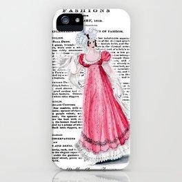 Regency Fashion Plate 1819, La Belle Assemblee iPhone Case