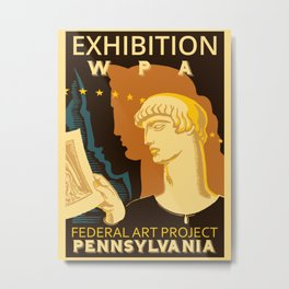 Federal Art Pennsylvania retro ad Metal Print