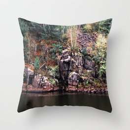 St. Croix River-Minnesota and Wisconsin Nature Throw Pillow