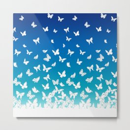 white butterflies Metal Print