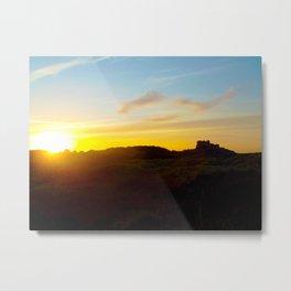 Winter sunset in Bamburgh Metal Print
