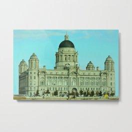 Port of Liverpool Building (Digital Art) Metal Print