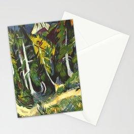 Ernst Ludwig Kirchner Forest Gorge at Staffel c1938 Stationery Cards