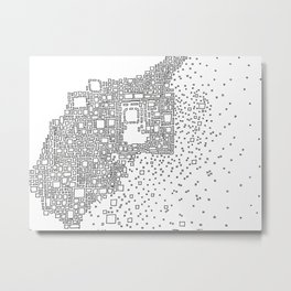 Eroding City Metal Print
