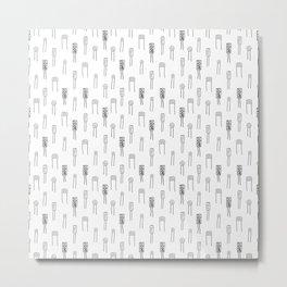 Capacitors - Black on White Metal Print
