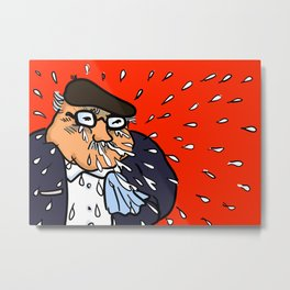Man Sneezing Metal Print