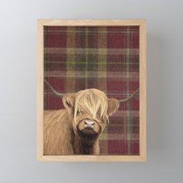 Highland cow print Framed Mini Art Print