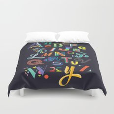 Typographic Alphabet Duvet Cover