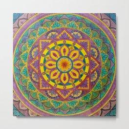 Secret Garden mandala Metal Print