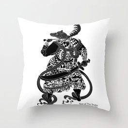 Chinese zodiac sign, Year of the Snake Throw Pillow