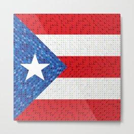 Puerto Rico Flag Metal Print