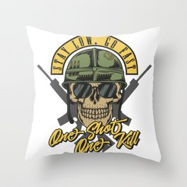 17 Warriors_4 Throw Pillow