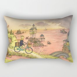 Rain On The Sea Rectangular Pillow