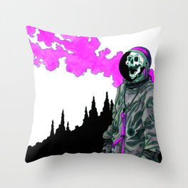 Silent Scream - Pink Throw Pillow