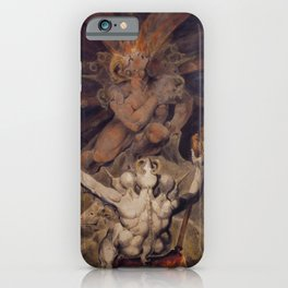 The number of the beast is 666 by William Blake iPhone Case
