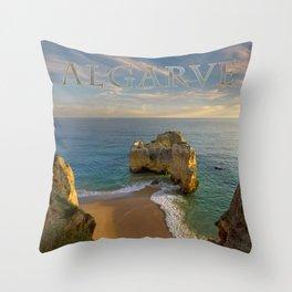 Praia da Rocha, Algarve Throw Pillow