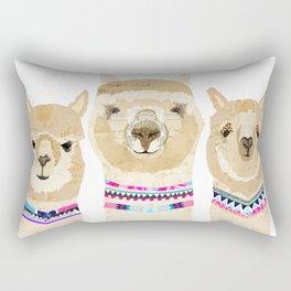 Colorful Alpaca Collage Rectangular Pillow