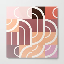 Hedgehog abstract geometric pattern with colorful shapes 217 Metal Print