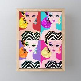 Pop Art Barbie Framed Mini Art Print