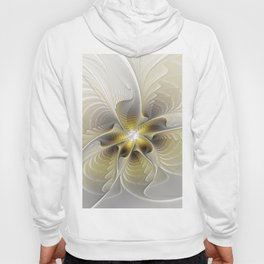 Gold And Silver, Abstract Flower Fractal Hoody