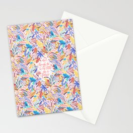 And though she be but little she is fierce. Tropical Foliage Pattern (TFP1) Stationery Cards