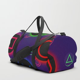 Let's Play! Neon PS4 Controller Buttons Duffle Bag