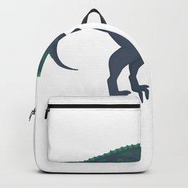 Funny Velociraptor Dinosaur Book Reading Bookworm Backpack