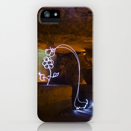 The Long Necked Dachshund Enjoys a Flower iPhone Case