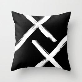 Minimal Strokes Throw Pillow
