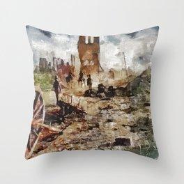 Destruction, World War One Throw Pillow