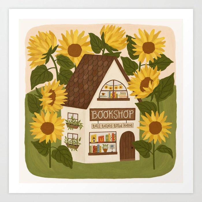 Sunflower Bookshop Art Print