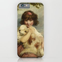 Joshua Reynolds - A Young Girl and Her Dog iPhone Case