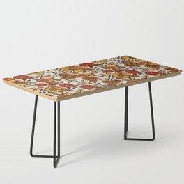 Retro 70s boho hippie orange flower power Coffee Table