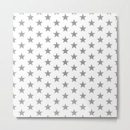 Superstars Gray on White Medium Metal Print