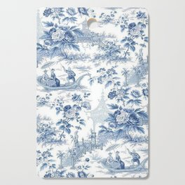 Powder Blue Chinoiserie Toile Cutting Board