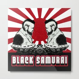 Black Samurai Metal Print