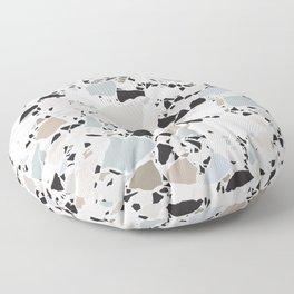 Scandi Terrazzo / Clean, Minimal, Neutral Floor Pillow