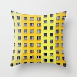 Yellow Urban Geometry Throw Pillow