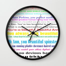 Compliments from Leslie to Ann Wall Clock