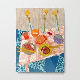Pancakes: Still Life V Metal Print