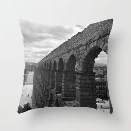 Segovia, Spain - Aqueduct Throw Pillow