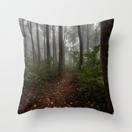 Smoky Mountain Summer Forest IX - National Park Nature Photography Throw Pillow