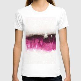 Modern Wine Geometrical Pattern Abstract T-shirt