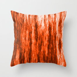 Bright texture of coated paper from brown flowing waves on a dark fabric. Throw Pillow