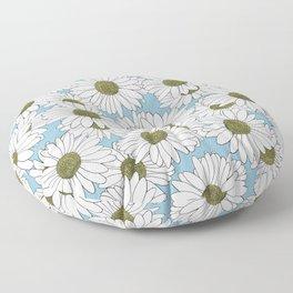 Daisy Blue Floor Pillow